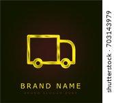 truck golden metallic logo