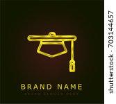 judge hat golden metallic logo