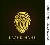 fingerprint golden metallic logo