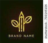 biology golden metallic logo