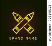 crayons golden metallic logo