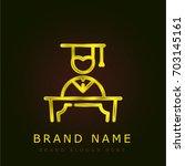 graduate golden metallic logo