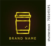 coffee golden metallic logo