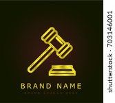 gavel golden metallic logo