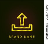 upload golden metallic logo