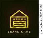 warehouse golden metallic logo