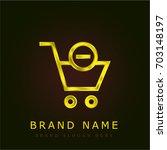 shopping golden metallic logo