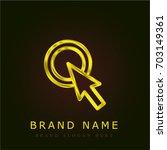 cursor golden metallic logo