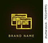 website golden metallic logo