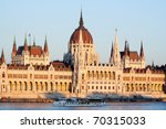 Hungarian Parliament Along The...