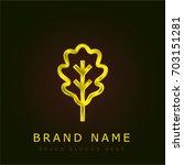 oak golden metallic logo
