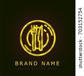 dinner golden metallic logo