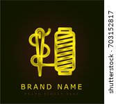 needle golden metallic logo