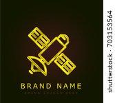 satellite golden metallic logo
