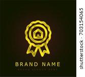 prize golden metallic logo