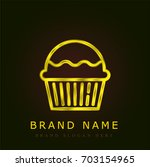 muffin golden metallic logo