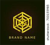 spider web golden metallic logo