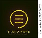 menu button golden metallic logo