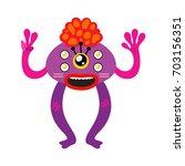 cartoon monster  vector... | Shutterstock .eps vector #703156351