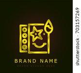 face paints golden metallic logo