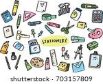 stationery | Shutterstock .eps vector #703157809
