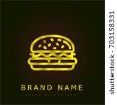 hamburger golden metallic logo