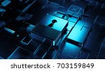 abstract 3d rendered technology ... | Shutterstock . vector #703159849