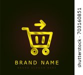 checkout golden metallic logo