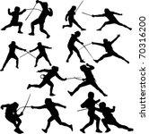fencing sport   vector  ... | Shutterstock .eps vector #70316200
