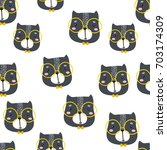 seamless childish pattern with... | Shutterstock .eps vector #703174309