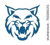 lynx blue | Shutterstock .eps vector #703206151
