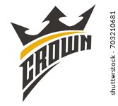 crown and typography | Shutterstock .eps vector #703210681