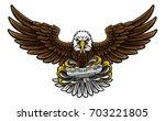 an eagle cartoon character...   Shutterstock . vector #703221805