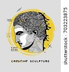 creative modern classical... | Shutterstock .eps vector #703223875