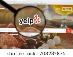 Small photo of Milan, Italy - August 10, 2017: Yelp website homepage. It is an American multinational corporation. It develops, hosts and markets Yelp.com . Yelp logo visible.