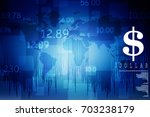 2d rendering stock market... | Shutterstock . vector #703238179