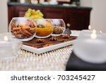 spices   turmeric  star anise ... | Shutterstock . vector #703245427
