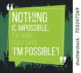 motivational quote. inspiration.... | Shutterstock .eps vector #703247269