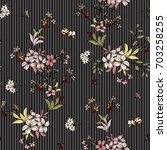 seamless floral pattern in... | Shutterstock .eps vector #703258255