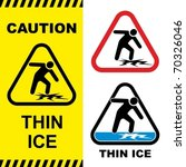 thin ice warning sign. vector... | Shutterstock .eps vector #70326046