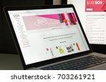 milan  italy   august 10  2017  ...   Shutterstock . vector #703261921