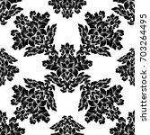 damask seamless pattern... | Shutterstock . vector #703264495