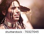 portrait of american indian in... | Shutterstock . vector #70327045