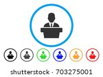 politician vector rounded icon. ... | Shutterstock .eps vector #703275001