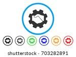 smart contract handshake vector ... | Shutterstock .eps vector #703282891