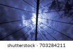 clouds at the bridge | Shutterstock . vector #703284211