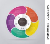 vector circle for infographic... | Shutterstock .eps vector #703288591