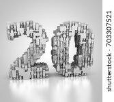3d rendering  twenty years old | Shutterstock . vector #703307521