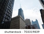 downtown chicago background... | Shutterstock . vector #703319839