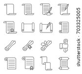 simple set of scroll related... | Shutterstock .eps vector #703325005